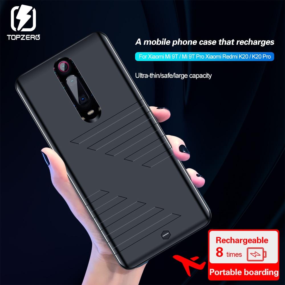 6800mah Caixa de Bateria Para Xiaomi 9T K20 Ultraleve Power Bank de Carregamento Para Xiaomi Redmi K20 Pro 9T Pro Bateria Extrema