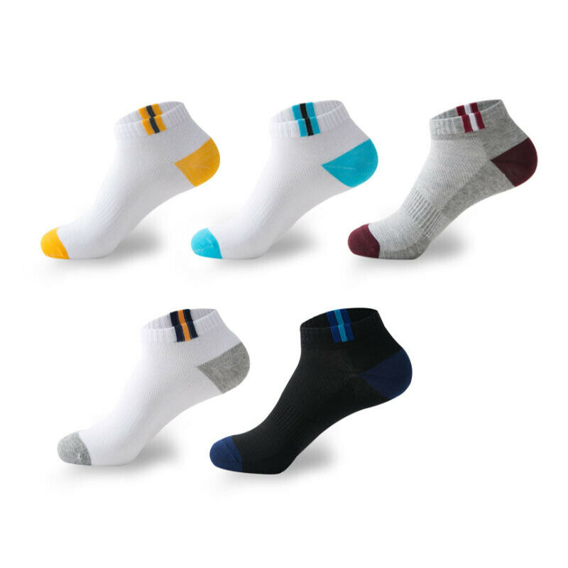 10Pcs=5 Pairs Mens Autumn Summer Socks Classic Patchwork Mesh Breathable Cotton Men Short Deodorant Male Socks Meias EU39-42