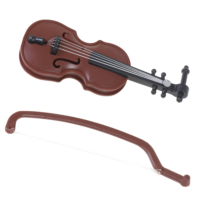 1/12 Dolls House Miniature Plastic Violin Music Instrument Model Accessories Toy 3