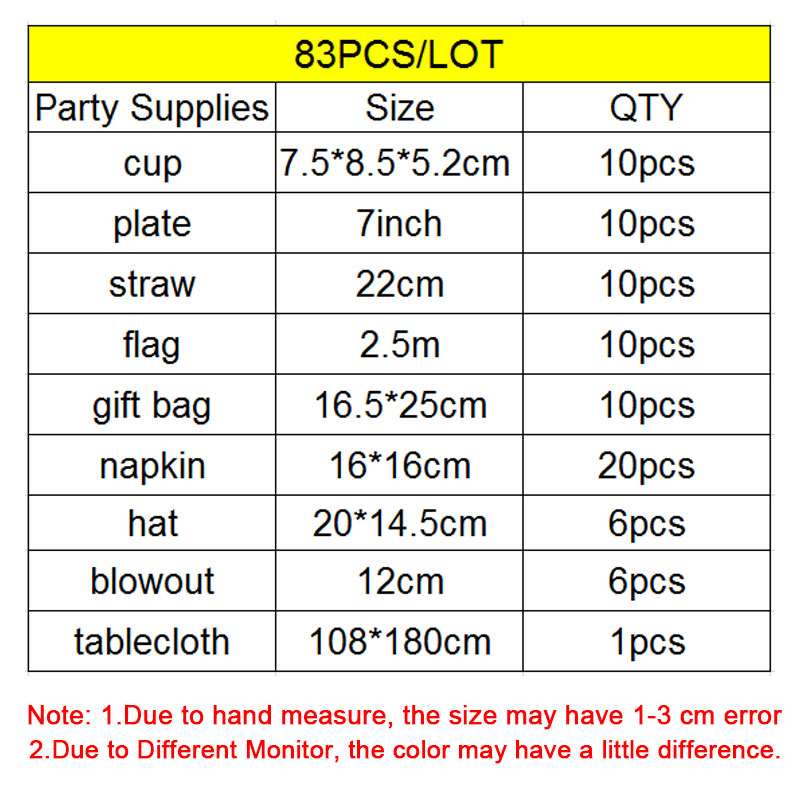 Image 2 - Disney Six Princess Belle Theme Design 83Pcs/Lot Disposable Tableware Sets Girls Birthday Party Theme Party Decoration Supply-in Disposable Party Tableware from Home & Garden