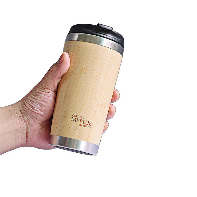 400MLTravel Coffee Mugs Bamboo Stainless Steel Cup Coffee Drink Bottle Flask Bambu Water Mugs For Mother's Day Gift 2