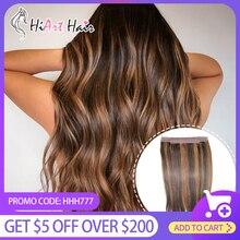 HiArt расширения гало волосы 2020 нарисованные двойником Remy человеческих волос 120 г флип в волосах Заводской зазор невидимая утка русском