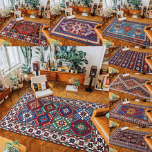 Boho Living Room Carpet Persian Style Retro Morocco Soft Bedroom Floor Lounge Rug Mat Rectangle Carpets Decoration Home Decor