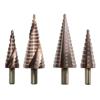 3pcs/set M35/6542 Drill Bit 4-12/20/32mm HSS Straight Groove Step Pagoda Shape Hex Triangle Shank Hole Bits