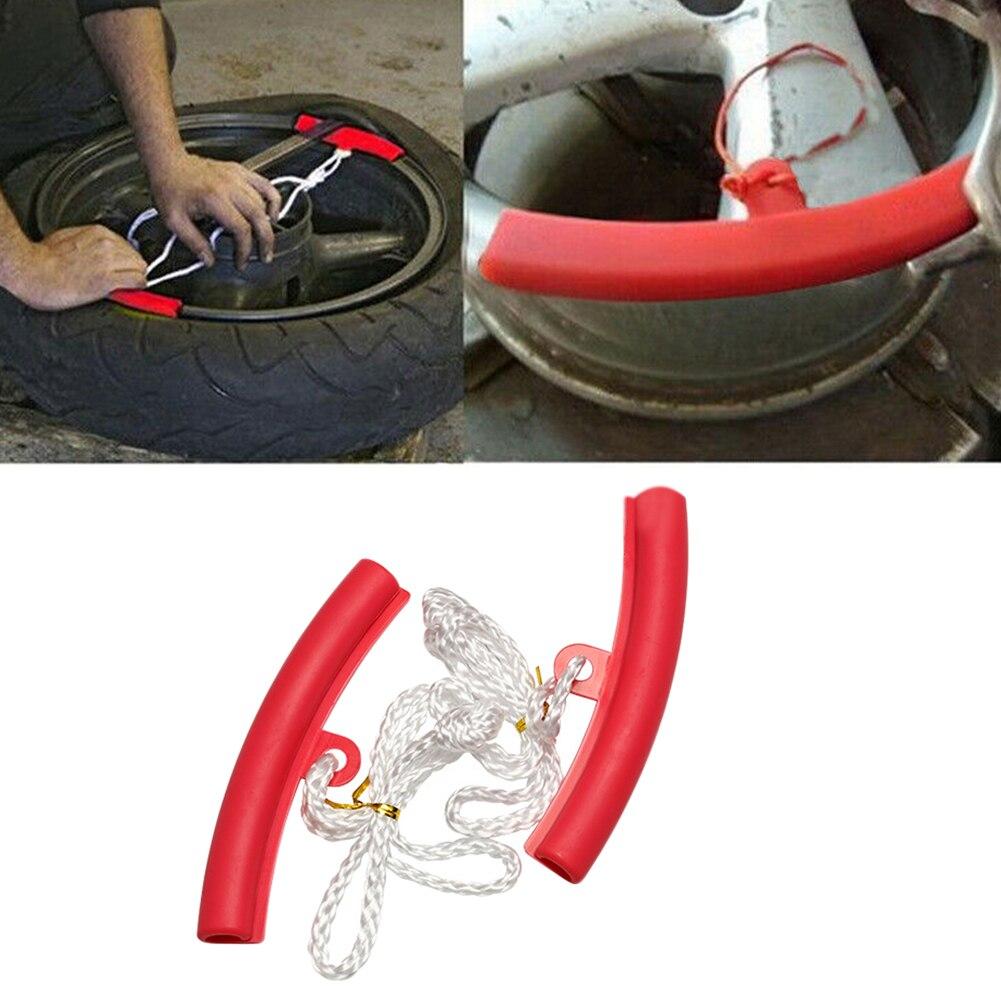 2 piezas herramienta de montaje Universal Flexible accesorios de motocicleta borde de la rueda fácil de instalar protección llanta Protector cambio