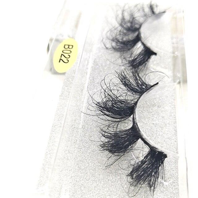 חדש HBZGTLAD 3D מינק שיער דליל צלב עין ריסים בעבודת יד רכה הארכת מינק ריסים