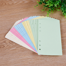Colorful A5/A6 Loose Leaf Notebook Inner Pages 6 Holes Blank Line Planner Notepad Binder Inner Core Paper