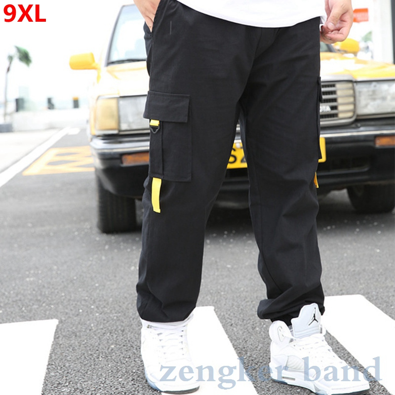 Thin Section Pants Male Plus Size Spring Brand Overalls Loose Large Size Sports Pants Men's Trousers Casual Pants Joggers Men