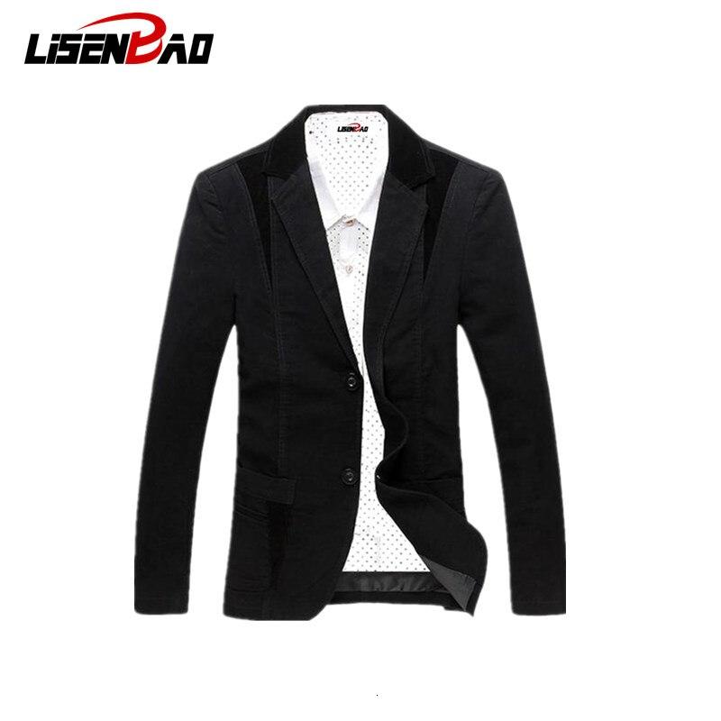 2019 Spring-Autumn Men's Casual Suit Blazer Slim Fit Men's Suit Jacket Casual Business Plus Size 6XL Men Cotton Coat Outerwear