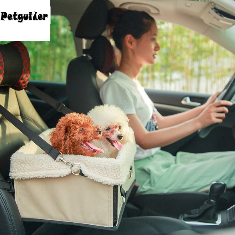 Car Seat Pet Carrier Pet Car Seat Carrier,Waterproof Breathable Double Layer Car Booster Seat with Safety Belt for Dog Cat Puppy