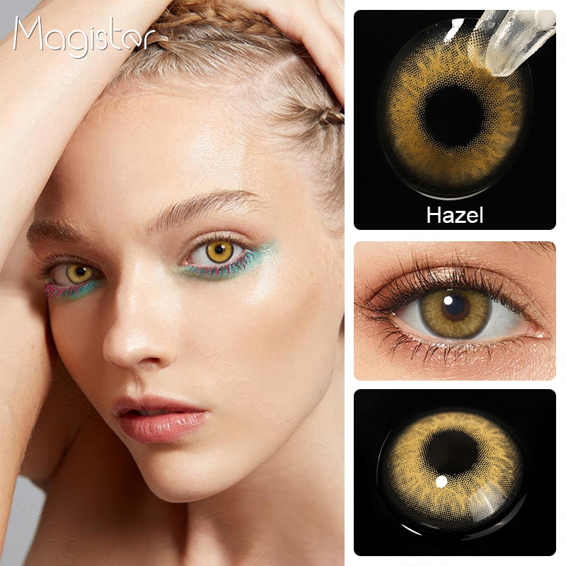 2pcs/Pair Contact Lenses Colored Contact Lenses for Eyes Colored Yearly Blue Brown Colorful Beauty Eye Contact Lenses Eye Color 6