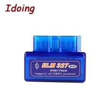 IDoing OBD2 OBD-II ELM 327 V1.5 автомобильный интерфейс сканер работает для Android Bluetooth автомобиля диагностический инструмент