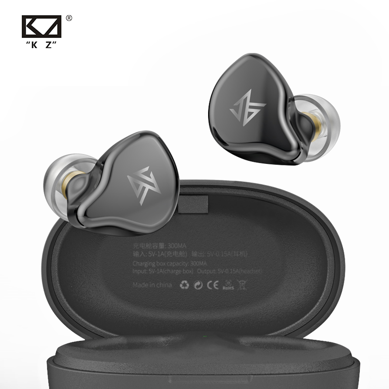 KZ S1 S1D TWS Wireless Bluetooth 5 0 Earphones Touch Control Earbuds Dynamic Hybrid Driver Unit Headset Full Stock KZ Z1 ZSX