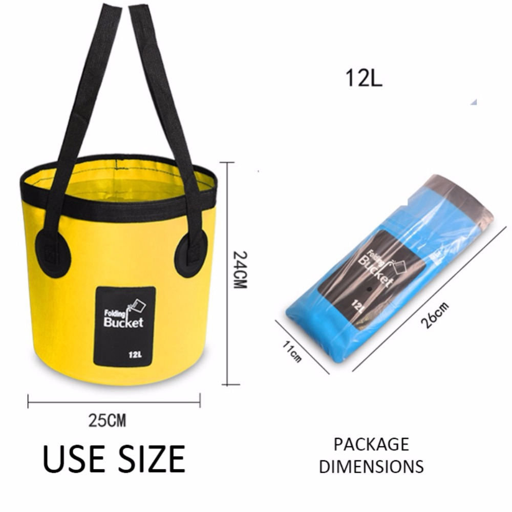 Outdoor Portable Folding Convenient Fishing Bucket Folding Bucket Car Wash Bucket Fishing Bucket