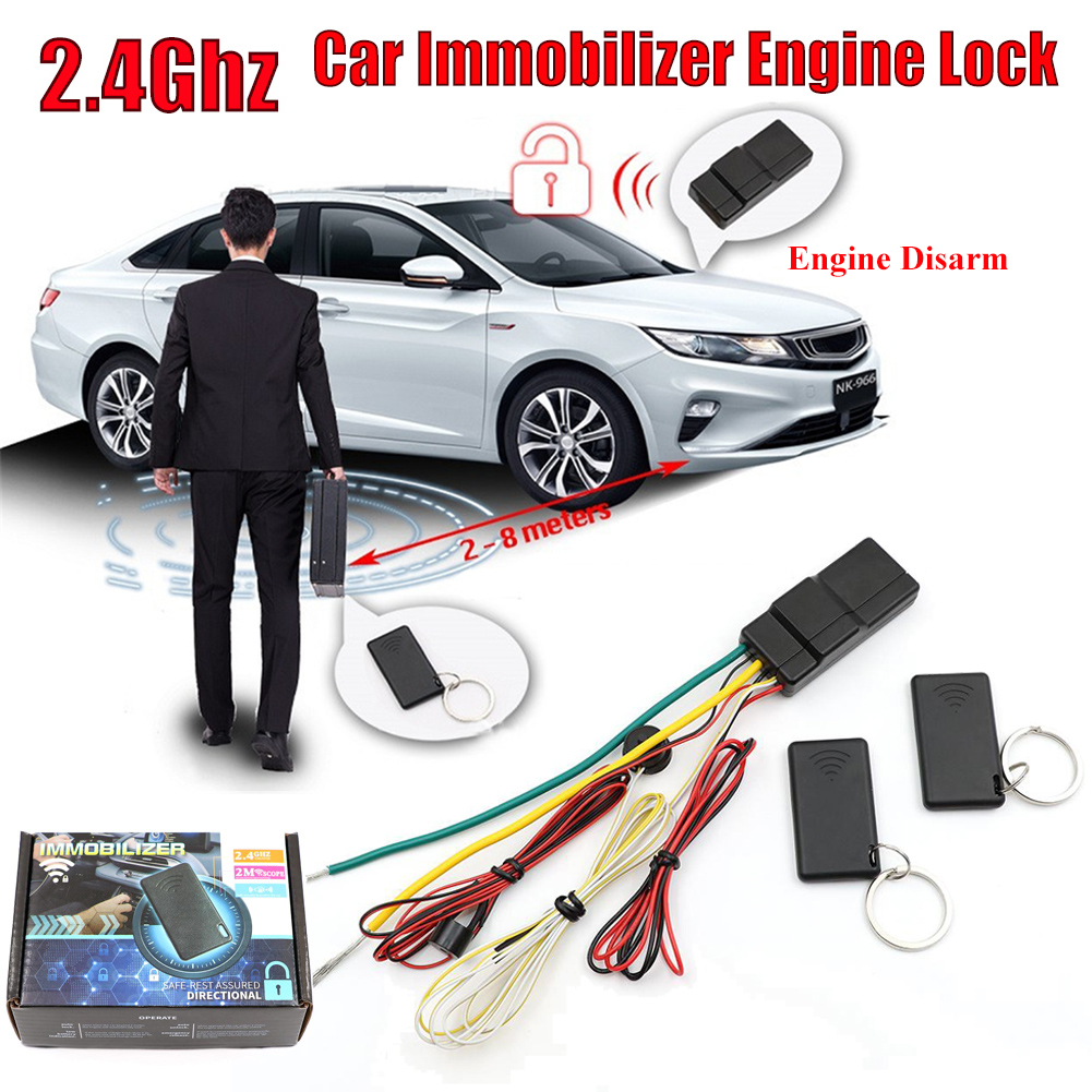 RFID Car Immobilizer Engine Lock Anti-Hijacking & Circuit Cut Alarm Inmoviliza