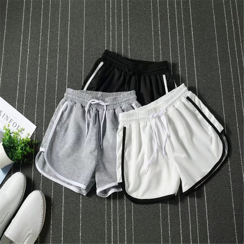 Summer New LeisureSportswe Fitness Male Shorts Fashion Solid Color Elastic Waist Breathable Mesh Quick Dry Beach Shorts