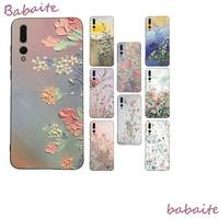 Funda de teléfono de lujo con flores de pintura Vintage, para Huawei Mate 30 Pro P20 P30 P40 pro lite Y7 Y6 2019, Honor 8X 8A 10 20lite 10i