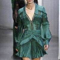 2020 New Arrival Autumn Runway Designer Dress Women High Quality Luxury Brand Long Sleeve Ladies Vintage Mini Dresses Female