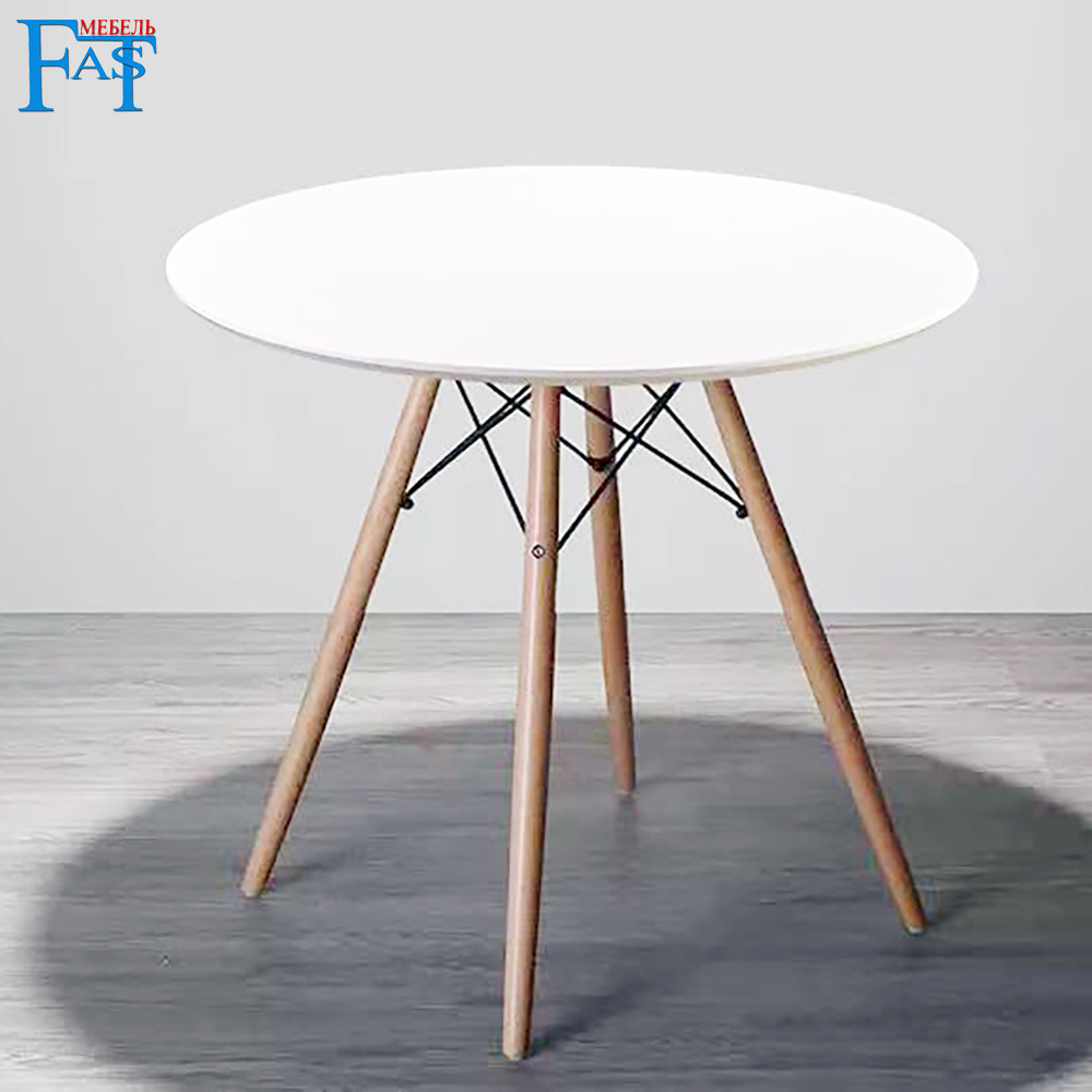 Home Dining Table White Paint Table On Beech Legs Art Design Kitchen Table Round Table Modern Table