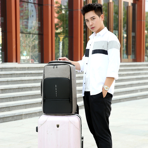 Image 3 - Fashion Trend Mens Laptop Backpack 2020 Large Capacity Oxford Cloth Waterproof Charging USB Travel Bag Male Business Backpack