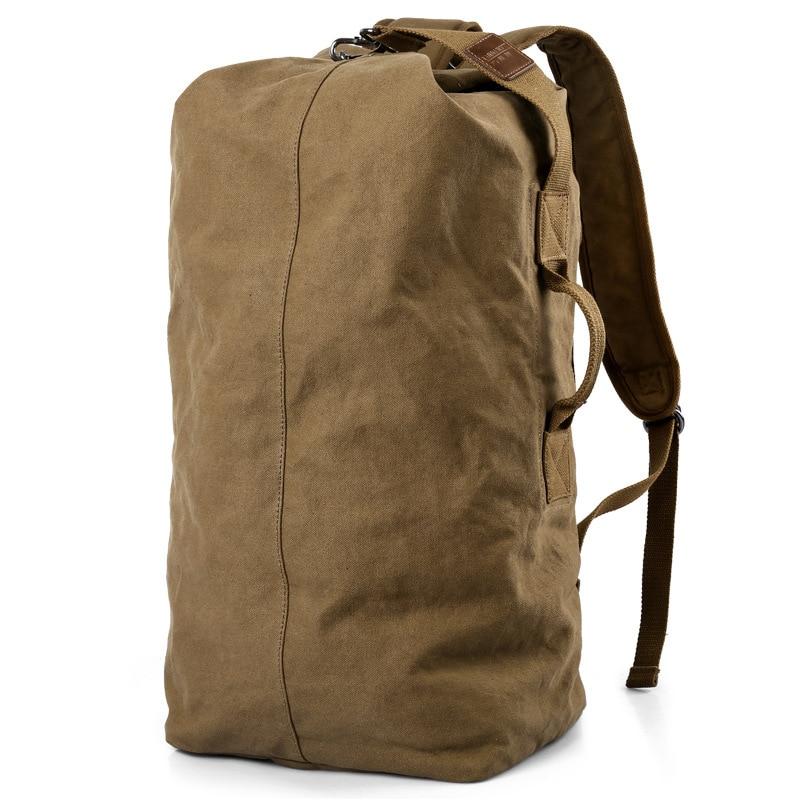 Large Capacity Rucksack Men Travel Bag Mountaineering Backpack Male Luggage Canvas Bucket Shoulder Bags For Boys Backpack XA202K