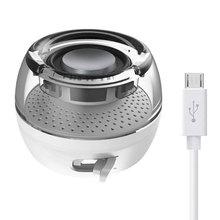 3.5mm Aux Audio Jack Mini Wireless Powerful Crystal Speaker Portable HIFI 3D Surround Phone Speaker For Smart Phone Tablet