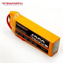 Batterie LiPo 4s 14.8V 4200mAh 30C 40C 60C pour Drone RC, 4200mAh pour avion RC Quadrotor, hélicoptère, voiture, bateau, camion, réservoir