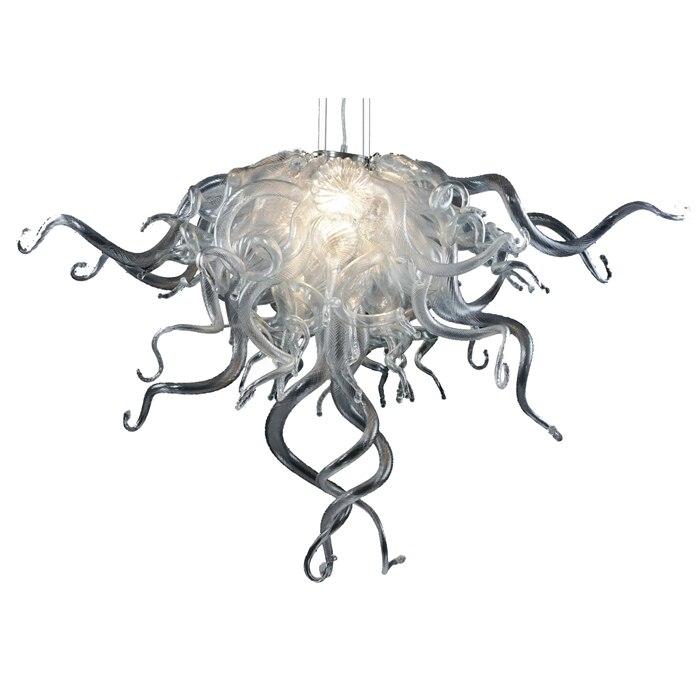 Новое поступление прозрачный цвет дешевая маленькая Хрустальная люстра декор для гостиной светодиодный 100% выдувное стеклоизделие ручной ...