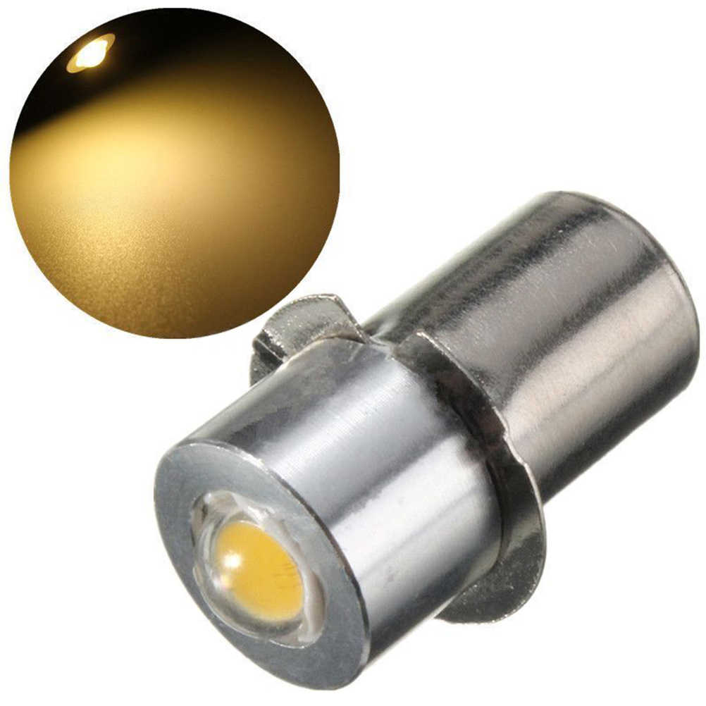 P13.5S Pr2 1W Warm//White Led Flashlight Bulb High Brightness Lamps 90Lm Dc18RKB$