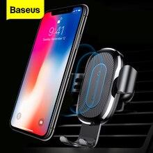 Baseus Auto Qi Caricatore Senza Fili Per iPhone 11 Pro XS Max X 10w Veloce Wirless Ricarica Caricabatteria Per Auto Senza Fili per Samsung S20 Xiaomi