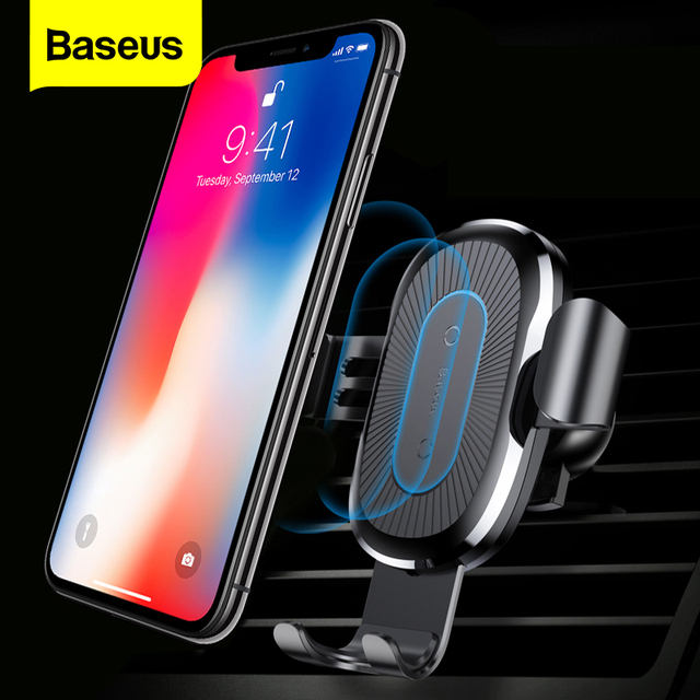 Baseus Car Qi Wireless Charger For iPhone 11 Pro XS Max X 10w Fast Wirless Charging Wireless Car Charger For Samsung S20 Xiaomi