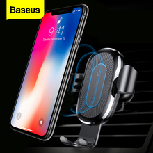 Baseus 자동차 Qi 무선 충전기 아이폰 11 프로 XS 최대 X 10w 빠른 무선 충전 무선 자동차 충전기 삼성 S20 Xiaomi