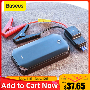 Baseus Car Jump Starter Starting Device Battery Power Bank 800A Jumpstarter Auto Buster Emergency Booster Car Charger Jump Start