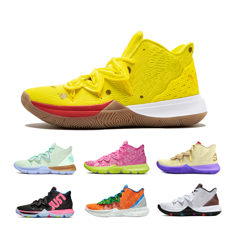 2020 New Arrival Mens Kyrie Shoes TV PE Basketball Shoes 5 For Cheap 20th Anniversary Sponge X Irving 5s V Five Luxury Sneakers