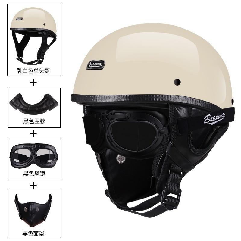 BRAMMO Кепка с черепом мотоциклетный шлем винтажный полулицевой шлем мотоциклетный скутер Ретро немецкий стиль Чоппер крейсерские шлемы