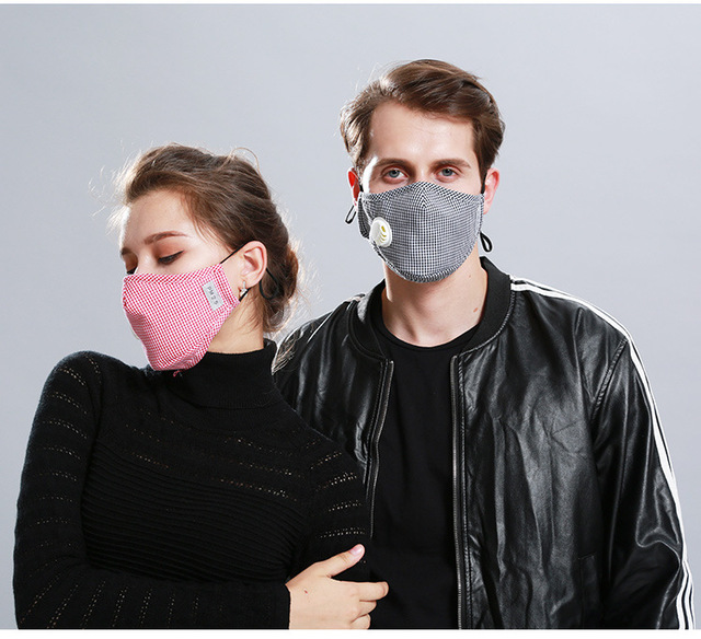 Safety Dust mouth Mask+2 Filters Cotton Breathe Reusable Washable Face Mask Anti Flu Outdoor Sports Gardening Travel PM2.5 Mask 3