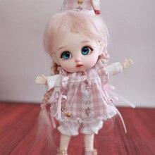 BJD resin Doll ob11 Yuyu 13.5cm fullset 1/12 Tiny pukifee anime obitsu11 blythe doll Girls Cute Baby BJD club present