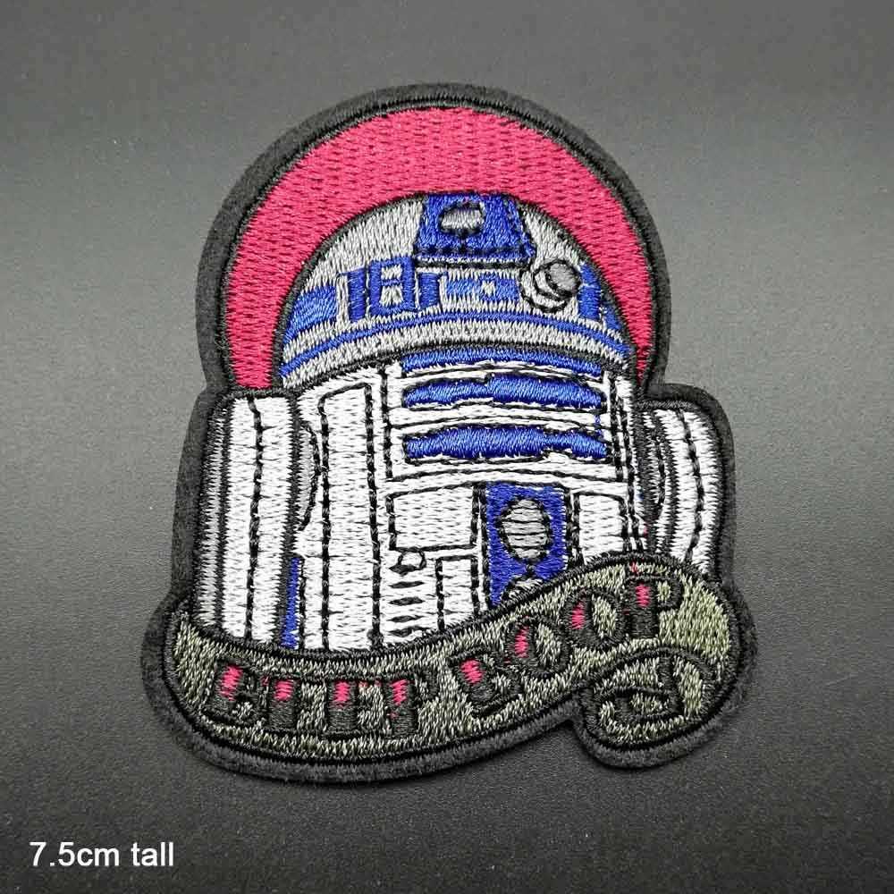 Dessin animé Star Wars Yoda Storm Trooper BB8 Robot en gros fer sur tissu brodé vêtements Patch pour vêtements garçons Mandalorian