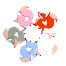Baby Fox Silicone Kovict Teething-Toys Rodent Baby-Products Gift Animal-Shape Chewable