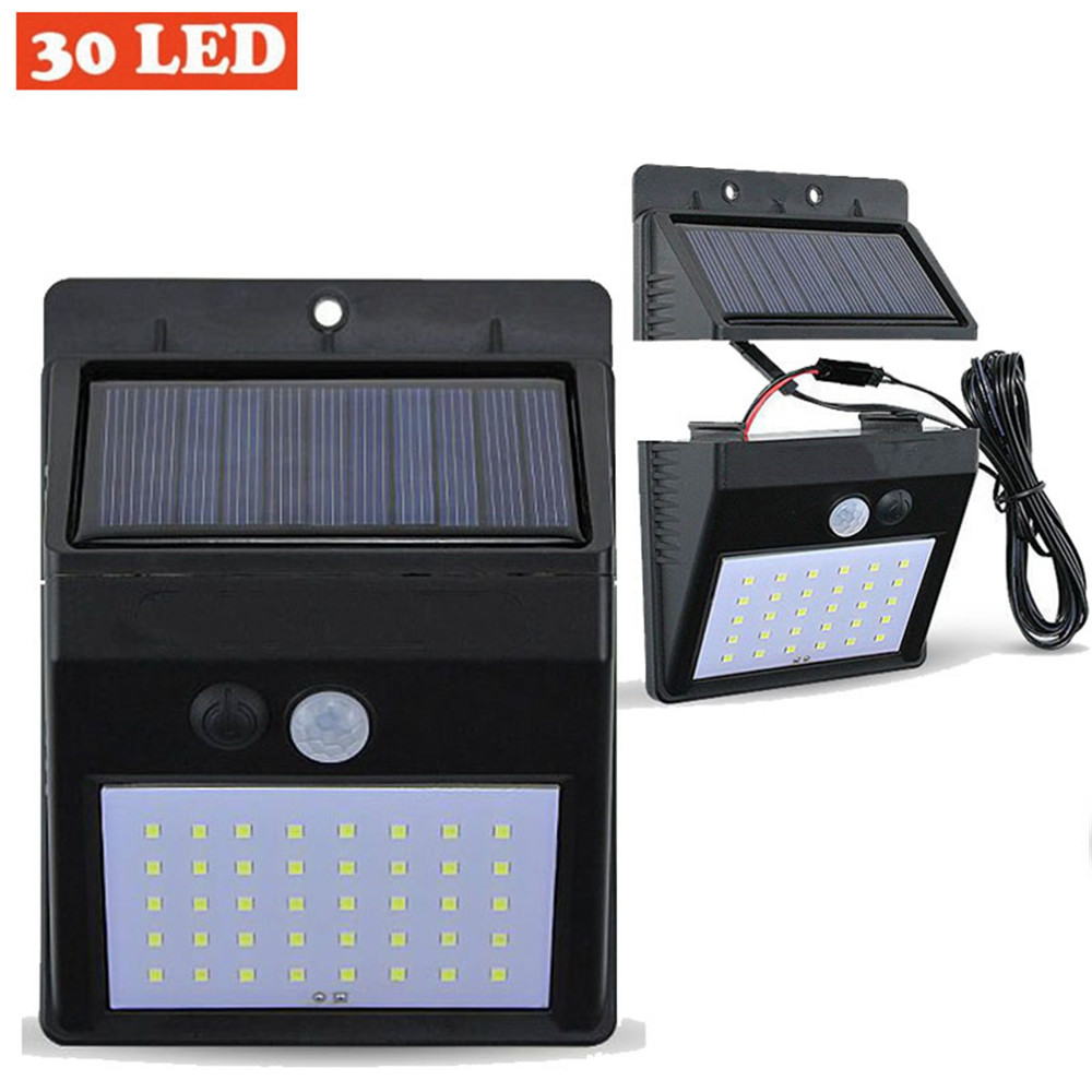 LED wall lighting solar power solar lamps lantern PIR Sensor outdoor indoor home waterproof Ip 65 garden Separated