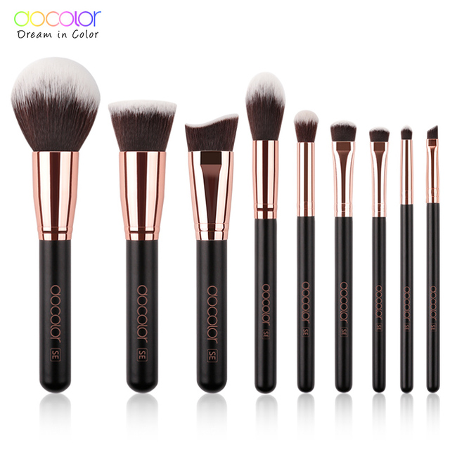 Docolor Makeup Brushes Set For Foundation Powder Blending Eyeshadow Eyebrow Make Up Brush Wood Handle Cosmetics Beauty Tools 1