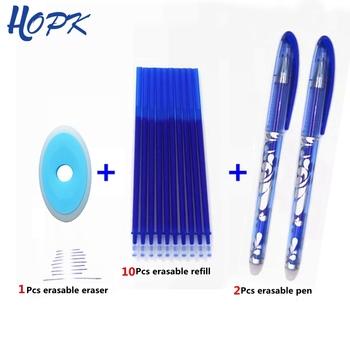 Zmazywalny długopis zestaw niebieski czarny kolorowy atrament pisanie długopisy żelowe zmywalny uchwyt pręt do szkoły materiały biurowe egzamin zapasowy tanie i dobre opinie hopk Żel atramentu Biuro i szkoła pen 0 5mm Normalne K-014 Z tworzywa sztucznego
