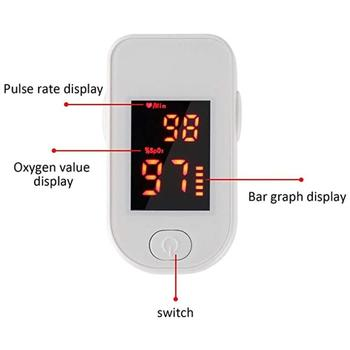 Professioanl Finger Oximeter Oxygen Saturation Monitor Blood Oxygen Monitor Finger Pulse Low Battery Voltage Heart Rate finger pulse oxygen saturation monitor blood oximeter finger oximeter health monitors oximetro home family pulse oxymeter