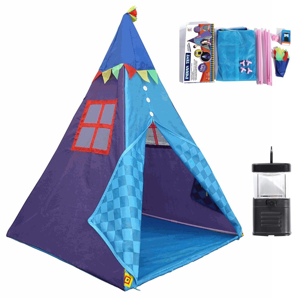 1.3m Portable Children's Tents With Tent Light Play House Kid Cotton Canvas Play Tent Wigwam Child Little Teepee Room Decoration
