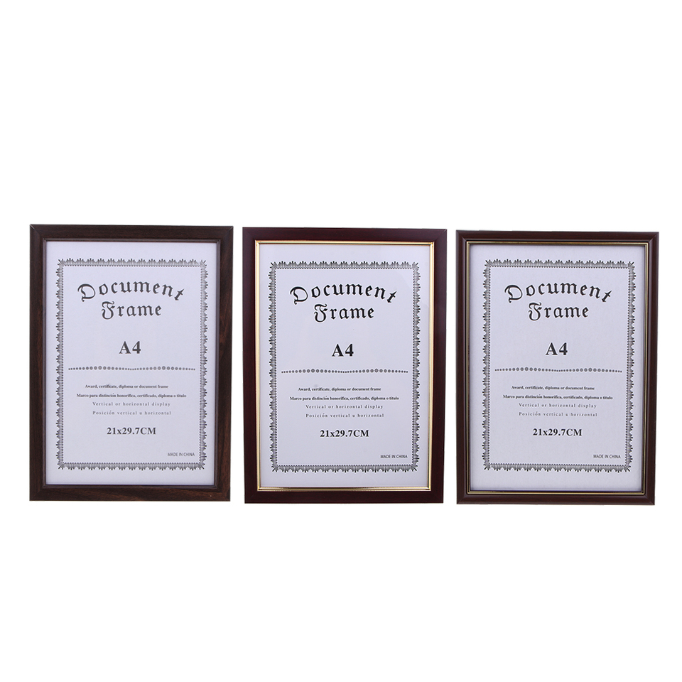 Picture Photo Certificate Documents Artwork A4 Wood Frame For Diploma