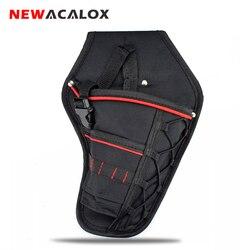 NEWACALOX Водонепроницаемый Электрик Оксфорд карманы сумка для хранения аппаратные средства инструмент поясная сумка для электрической аккум...