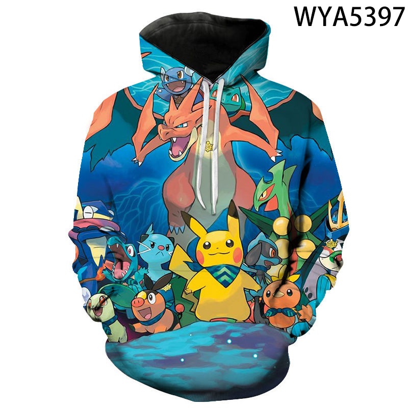 Men Women Children Fashion Casual Hoodies 3D Printed Sweatshirts Pullover Streetwear Games Pokemon Boy Girl Kids Casual Jacket 1