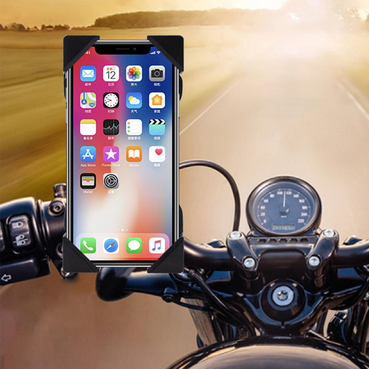 motocicleta guiador montar usb de carregamento do telefone movel gps suporte suporte da motocicleta acessorios
