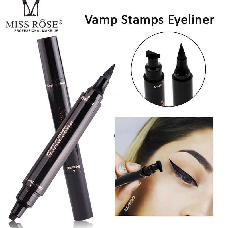 Hot New Long Lasting Eyes Liner Liquid Make Up Pencil Waterproof Black Double-ended Makeup Stamps Eyeliner Pencil