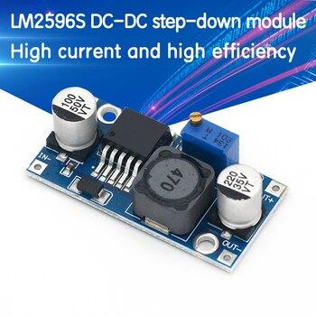 nc dc dc dc 12v to 5v adjustable step down module constant voltage constant current voltage regulator module 30v LM2596s DC-DC step-down power supply module 3A adjustable step-down module LM2596 voltage regulator 24V 12V 5V 3V